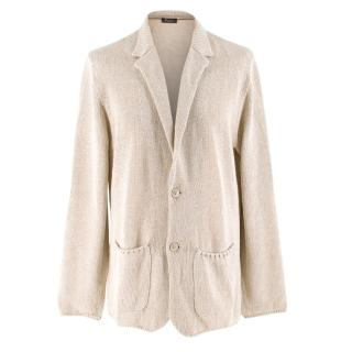 Loro Piana Beige Knit Cardigan