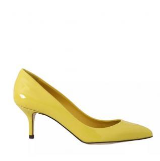 Dolce & Gabbana Yellow Patent Pumps