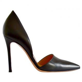 Gianvito Rossi black leather pumps