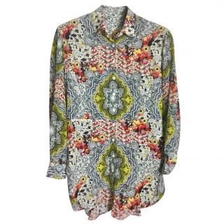 Etro Paisley-Print Shirt , size 46