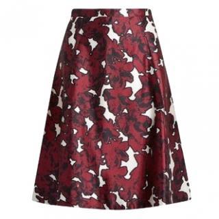 Oscar de la Renta floral-jacquard A-line skirt