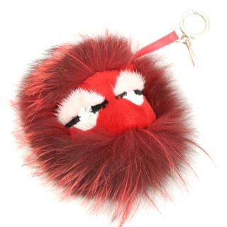 Fendi Red Monster Bag Bug Charm