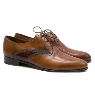Berluti Brown Leather Derby Shoes
