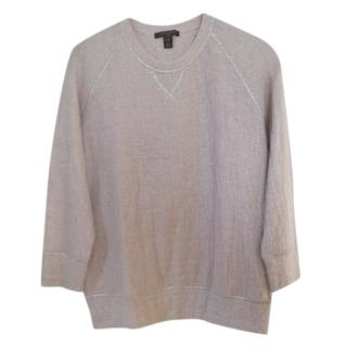 Louis Vuitton Tulle Overlay Crew Neck Top