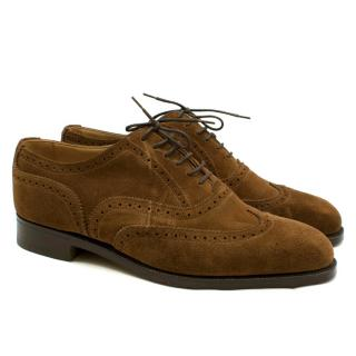 Tricker's of England Brown Suede Oxford Shoes