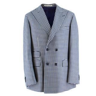 Savile Clifford Bespoke Checkered Blazer Jacket