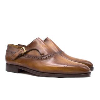 Berluti Brown Leather Monk Shoes