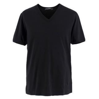 Dolce & Gabbana Black Cotton T-shirt