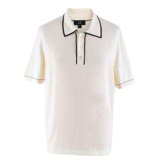 Dunhill Cream Cotton Polo Top
