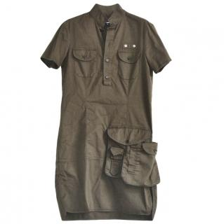 Dsquared2 khaki cotton mini dress