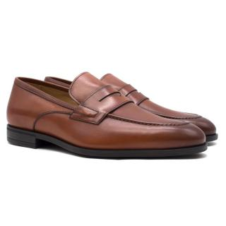 Harrys of London Brown Leather Loafers