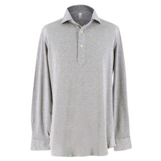 LA Napoli Grey Long Sleeved Polo Top