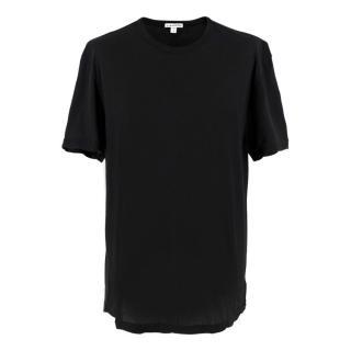 James Perse Black Cotton T-shirt