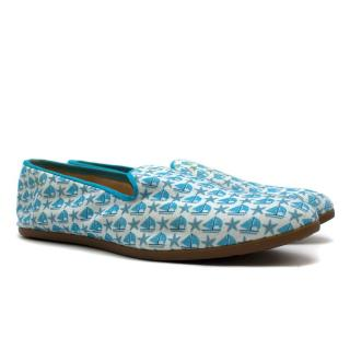 Galet 'Sailboats & Starfish' Print Cotton Loafers