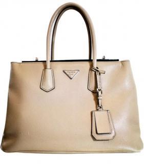 Prada Taupe Saffiano Leather Tote Bag