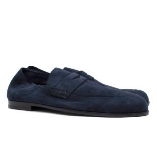 Harrys of London Navy Suede Loafers