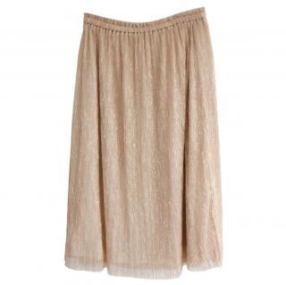 Bellerose Semi Sheer Gold Lurex Skirt