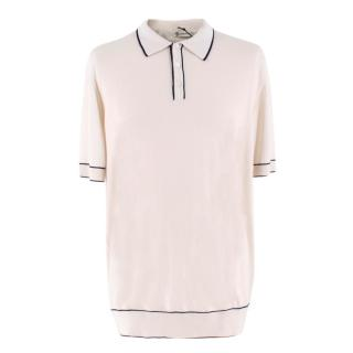Connolly White Tazio Tipped Polo Shirt