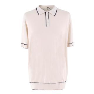 Connolly White Tazio Tipped Polo Shirt