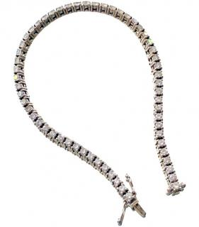 Bespoke 2.5ct Diamond Tennis Bracelet Set in 18kt White Gold