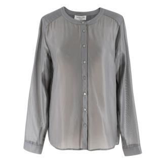 Rosemunde Pearl Grey Sheer Tony Shirt