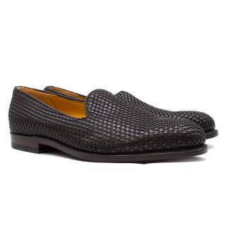 Ludwig Reiter Black Woven Leather Loafers