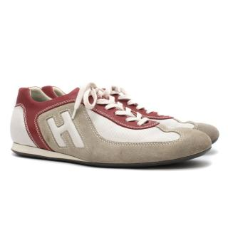 Hogan Grey & Red Sneakers