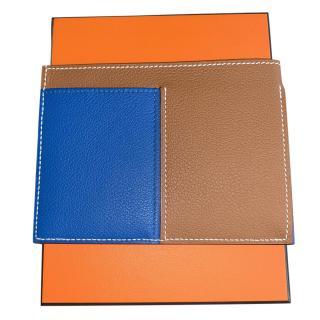 Hermes Gold & Blue Necto Card Holder