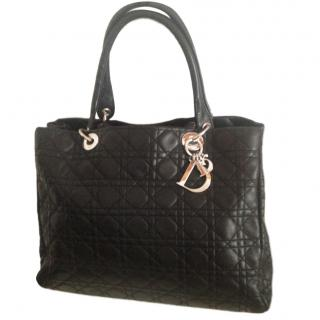 Dior Large Black Cannage Leather Lady Tote