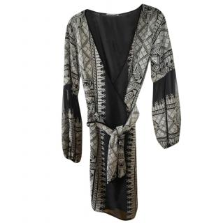 Lolita Jaca St Barths Black & Silver Wrap Kimono