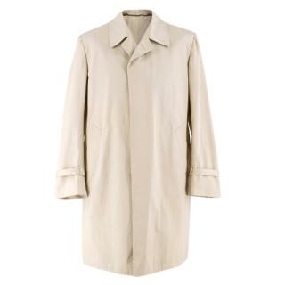 Cesare Attolini Beige Cotton Trench Coat