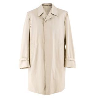 Cesare Attolini Beige Cotton Trench Coat