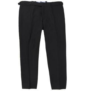 Ay (Suz T) Cerrato Napoli Bespoke Black Suit Trousers