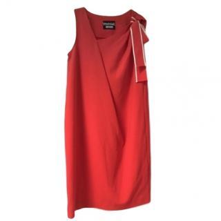 Moschino asymmetric red dress