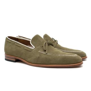 Regal Green Suede Loafers