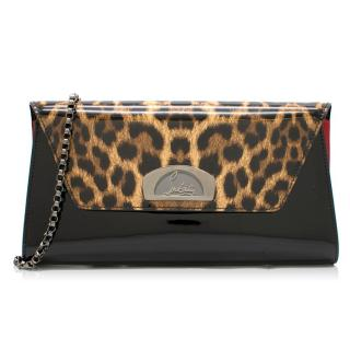 Christian Louboutin Vero Dodat Patent Leather Clutch Bag