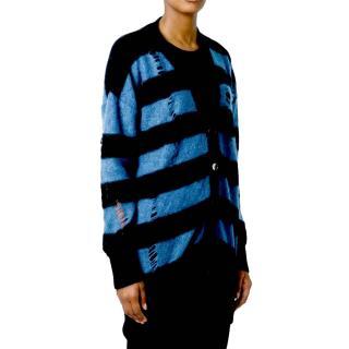 Stella McCartney distressed striped-knit cardigan