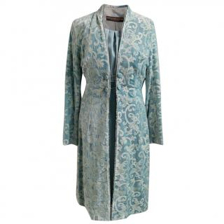 Vintage Favourbrook bespoke turquoise dress and coat