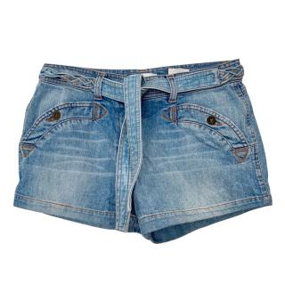 See by Chloe tie-wast denim shorts