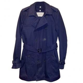 ebdee4b03c Burberry Brit Cotton Gabardine Navy Double Breasted Short Trench Coat