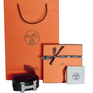 Hermes Constance reversible leather belt
