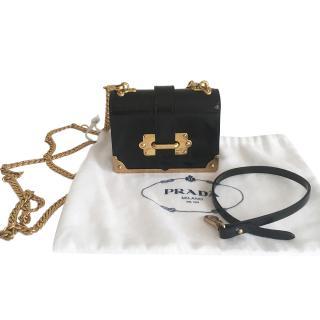 Prada Cahier Mini patent leather cross-body bag