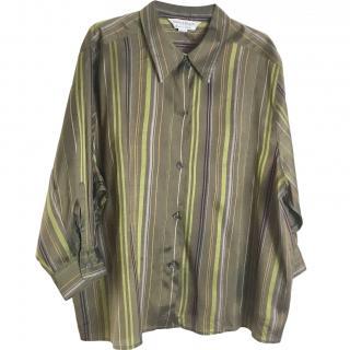 Marina Rinaldo Silk Striped Blouse
