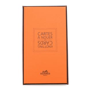Hermes Knotting Scarves Cards N3