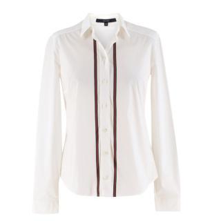 Gucci Cotton-blend Web Stripe Shirt
