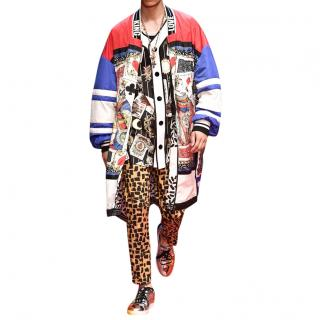 Dolce & Gabbana reversible printed nylon coat