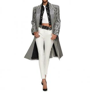 Balmain Black & White Trench Coat