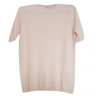 Max Mara Rose Pink Short Sleeve Sweater