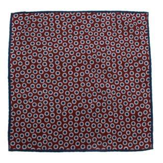 Brunello Cucinelli Multi Polka Dot Wool Pocket Square
