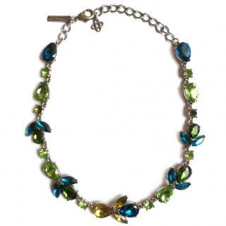 Oscar De La Renta Crystal-embellished Petal Necklace